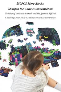 Puzzle educational Mare Elefant mozaic 280 piese Mideer5
