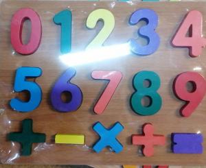 Puzzle lemn  cifre pentru copii 3D [0]