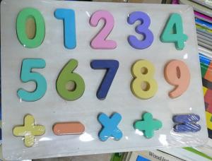 Puzzle lemn  cifre pentru copii 3D [1]