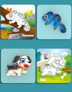 Puzzle Montessori incastru 3D - set 5 puzzle [9]