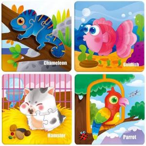 Puzzle Montessori incastru 3D - set 5 puzzle [2]
