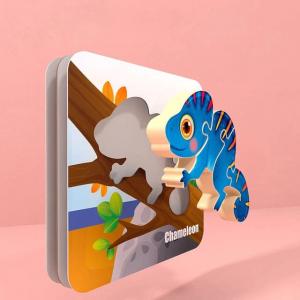 Puzzle Montessori incastru 3D - set 5 puzzle [4]