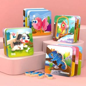 Puzzle Montessori incastru 3D - set 5 puzzle [0]