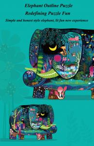 Puzzle educational Mare Elefant mozaic 280 piese Mideer3