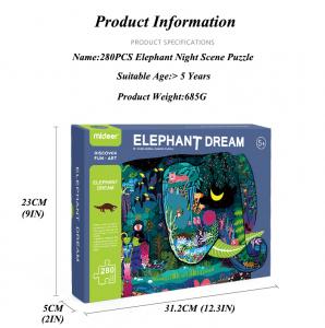 Puzzle educational Mare Elefant mozaic 280 piese Mideer1