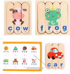 Set Puzzle betisoare creative cuvinte in engleza si imagini 54 de modele3