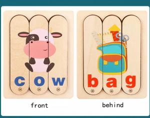 Set Puzzle betisoare creative cuvinte in engleza si imagini 54 de modele5