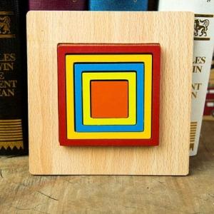 Set 2 Puzzle Lemn 3D Curcubeu Forme8