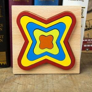 Set 2 Puzzle Lemn 3D Curcubeu Forme7