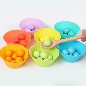 Joc din Lemn Montessori Sortator Culori - Joc educativ sorator culori7