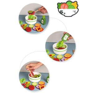 Joc din lemn legume -  Invata sa facem salata Kabi3