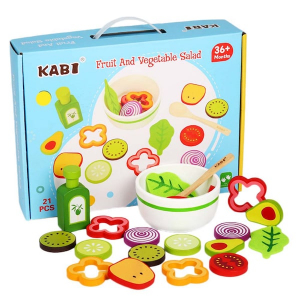 Joc din lemn legume -  Invata sa facem salata Kabi4