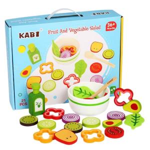 Joc din lemn legume -  Invata sa facem salata Kabi0