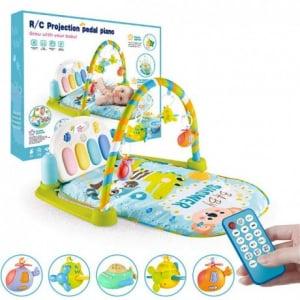 Saltea activitatii Baby Piano Gym cu telecomanda - Saltea bebe cu telecomanda8