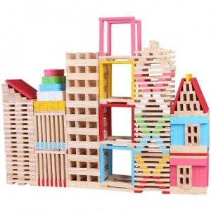 Set 150 de Cuburi din Lemn deCconstructie0