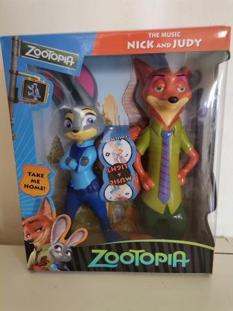 Figurine Zootopia Nick Fox si Judy Rabbit1