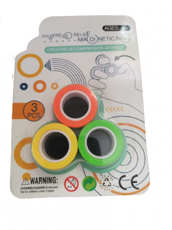 Set 3 buc Joc antistres Inel Magnetic - Magnetic Ring3
