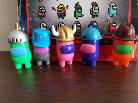 Set 5 Figurine Among Us Multicolore0