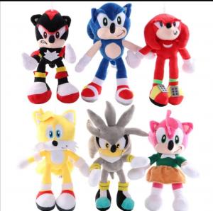Set 6 buc Jucarii de plus Super Sonic - Set Plusuri Sonic Hedgehog28