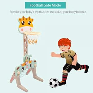Set Centru de Activitati Sportive 3 in 1 Girafa4