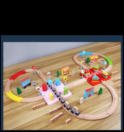 Set Circuit Tren cu litere si sortator 100 de piese [11]