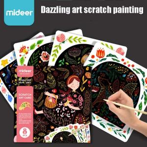 Set Creativ Planse de razuit Mideer - Scratch art card Mideer1