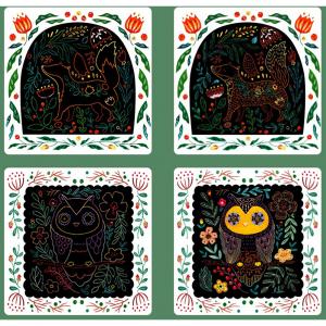 Set Creativ Planse de razuit Mideer - Scratch art card Mideer6