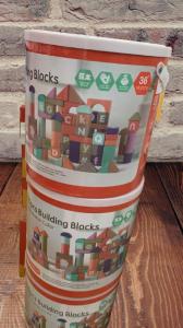 Set cuburi colorate din lemn  100piese [1]