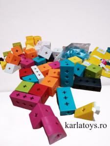 Set Joc de construit Animale Traffic Dinosaur Blocks8
