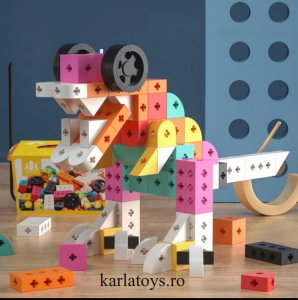 Set Joc de construit Animale Traffic Dinosaur Blocks1