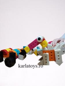 Set Joc de construit Animale Traffic Dinosaur Blocks7