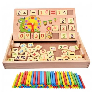 Set educational din lemn matematica 3 in 12
