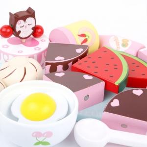 Set Mic dejun din lemn pentru copii Breakfast 18 piese3