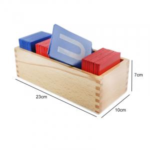 Set din Lemn Carduri Litere Montessori [3]