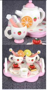 Set din lemn Servit Ceaiul - Set de Ceai  copii cu accesorii [4]