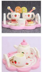 Set din lemn Servit Ceaiul - Set de Ceai  copii cu accesorii [2]