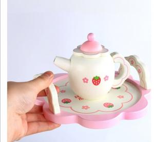 Set din lemn Servit Ceaiul - Set de Ceai  copii cu accesorii [1]
