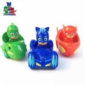 Set figurine cu masinute Eroii in Pijama0
