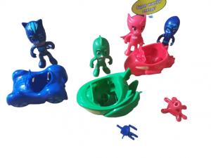 Set figurine cu masinute Eroii in Pijama3