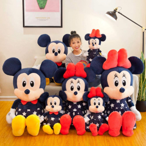 Set 2 jucari de plus  Mickey si Minnie Mouse Albastru0