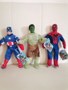 Set jucarii plus Hulk Captain America Spiderman 3 bucati - Avengers4