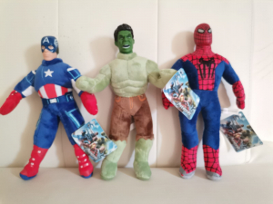 Set jucarii plus Hulk Captain America Spiderman 3 bucati - Avengers5