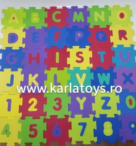 Set covoras puzzle cu cifre si litere 36 de bucati [1]
