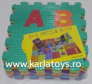Set puzzel 10 piese cifre si litere - Covoras puzzle Litere si Cifre1