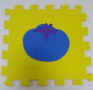 Set puzzel 10 piese cu fructe si legume - Covoras puzzle fructe si legume7