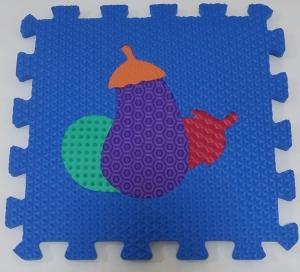 Set puzzel 10 piese cu fructe si legume - Covoras puzzle fructe si legume8