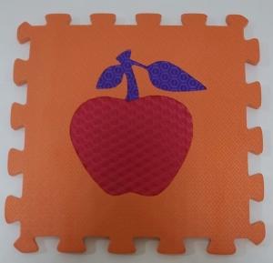Set puzzel 10 piese cu fructe si legume - Covoras puzzle fructe si legume11