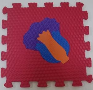 Set puzzel 10 piese cu fructe si legume - Covoras puzzle fructe si legume10
