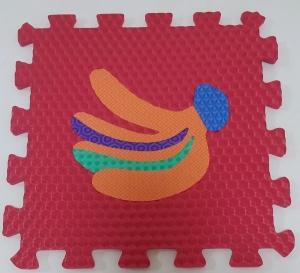 Set puzzel 10 piese cu fructe si legume - Covoras puzzle fructe si legume12