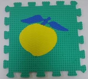 Set puzzel 10 piese cu fructe si legume - Covoras puzzle fructe si legume13